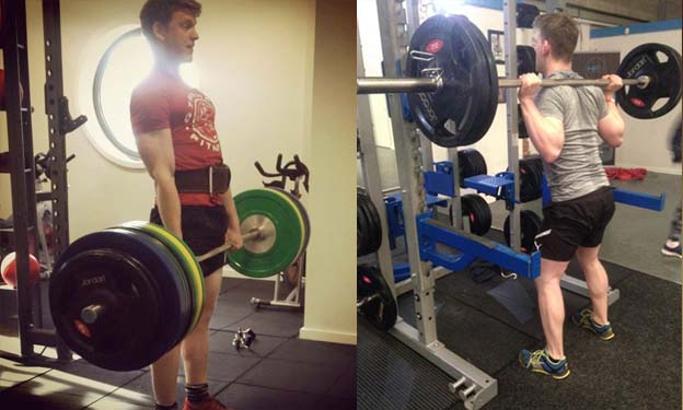 Pete Sweeney Leg training