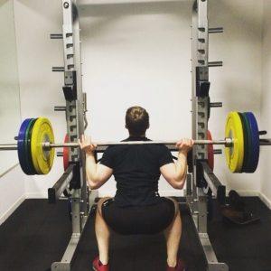 Atom Gym Billingham Wynyard Pete squatting